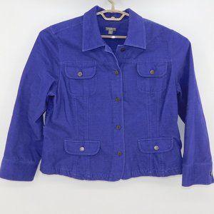 J. Jill Brushed Cotton Adjustable Jacket